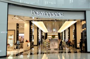interior entrance to Bloomingdale's in the Dubai Mall